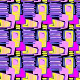 Άνευ ραφής η υφαντική σύσταση σχεδίων doodle grunge Στοκ Εικόνα