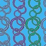 Άνευ ραφής θάλασσα σχεδίων Στοκ Εικόνες