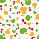Άνευ ραφής θερινά φρούτα σχεδίων Στοκ Φωτογραφία
