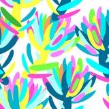Άνευ ραφής θερινό τροπικό floral σχέδιο Στοκ Εικόνες