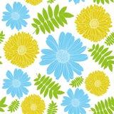 άνευ ραφής διάνυσμα ανασκό Λουλούδια Στοκ Φωτογραφία