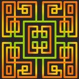 άνευ ραφής διάνυσμα ανασκό Μπλεγμένες ζωηρόχρωμες γραμμές στο Μαύρο διανυσματική απεικόνιση