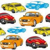 άνευ ραφής διάνυσμα ανασκό cars Στοκ Εικόνα