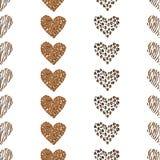Άνευ ραφής διάνυσμα καρδιών υποβάθρου σχεδίων Στοκ Εικόνες
