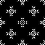 άνευ ραφής διάνυσμα προτύπων Επανάληψη γεωμετρική μαύρο λευκό Στοκ Φωτογραφία