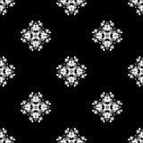 άνευ ραφής διάνυσμα προτύπων Επανάληψη γεωμετρική μαύρο λευκό Στοκ Εικόνα