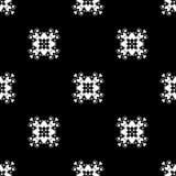 άνευ ραφής διάνυσμα προτύπων Επανάληψη γεωμετρική μαύρο λευκό Στοκ Εικόνες