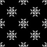άνευ ραφής διάνυσμα προτύπων Επανάληψη γεωμετρική μαύρο λευκό Στοκ φωτογραφία με δικαίωμα ελεύθερης χρήσης