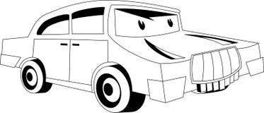 άνευ ραφής διάνυσμα προτύπων κινούμενων σχεδίων αυτοκινήτων Στοκ Φωτογραφίες