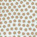 άνευ ραφής διάνυσμα προτύπων λουλουδιών Στοκ Εικόνες