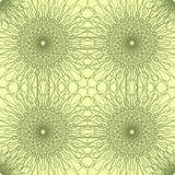 άνευ ραφής διάνυσμα προτύπων Περιγραμμένα λουλούδια σε ένα ανοικτό κίτρινο υπόβαθρο Στοκ εικόνα με δικαίωμα ελεύθερης χρήσης
