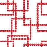 άνευ ραφής διάνυσμα προτύπων Τετράγωνα από τις κόκκινες σφαίρες Στοκ Εικόνες
