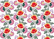 Άνευ ραφής διάνυσμα σχεδίων λουλουδιών Στοκ Εικόνα
