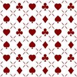 Άνευ ραφής διάνυσμα σχεδίων πόκερ Στοκ Φωτογραφία