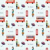 Άνευ ραφής διάνυσμα σχεδίων του Λονδίνου Αγγλία Μεγάλη Βρετανία αγάπης illust Στοκ φωτογραφία με δικαίωμα ελεύθερης χρήσης