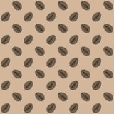Άνευ ραφής διάνυσμα σχεδίων φασολιών καφέ διαστημικό κείμενο προσανατολισμού τοπίων αντιγράφων καφέ φασολιών ανασκόπησής σας Στοκ Εικόνα