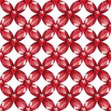Άνευ ραφής διάνυσμα σύστασης ρουμπινιών πλέγματος λουλουδιών ελεύθερη απεικόνιση δικαιώματος