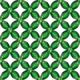 Άνευ ραφής διάνυσμα σύστασης σμαράγδων πλέγματος λουλουδιών διανυσματική απεικόνιση