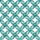 Άνευ ραφής διάνυσμα σύστασης aquamarine πλέγματος λουλουδιών διανυσματική απεικόνιση