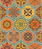 άνευ ραφής διάνυσμα σύστασ Όμορφο σχέδιο προσθηκών για το σχέδιο και μόδα με τα διακοσμητικά στοιχεία hexagon απεικόνιση αποθεμάτων
