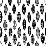 Άνευ ραφής διακοσμητικά φύλλα σχεδίων στοκ εικόνα