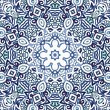 Άνευ ραφής διακοσμητικό σχέδιο watercolor doodle Διανυσματική απεικόνιση