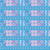 Άνευ ραφής διακοσμητικό υπόβαθρο με τις γεωμετρικές μορφές Στοκ Εικόνα
