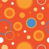 Άνευ ραφής διακοσμητικό υπόβαθρο με τους κύκλους, τα κουμπιά και τα σημεία Πόλκα Στοκ Εικόνες