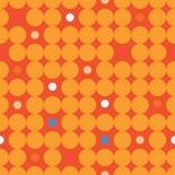 Άνευ ραφής διακοσμητικό υπόβαθρο με τους κύκλους, τα κουμπιά και τα σημεία Πόλκα Στοκ εικόνες με δικαίωμα ελεύθερης χρήσης