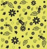 Άνευ ραφής διακοσμητικό floral σχέδιο διανυσματική απεικόνιση