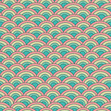 Άνευ ραφής διανυσματική κλίμακα ψαριών σχεδίων γεωμετρίας μέσα Στοκ εικόνες με δικαίωμα ελεύθερης χρήσης