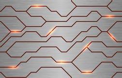 Άνευ ραφής διανυσματική φουτουριστική σύσταση techno Στοκ Εικόνες