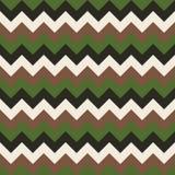 Άνευ ραφής διανυσματικός ζωηρόχρωμος άσπρος καφετής ανοικτό πράσινο σκούρο πράσινο γεωμετρικού σχεδίου βελών σχεδίων σιριτιών Στοκ Εικόνες