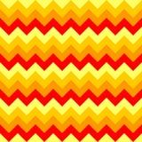 Άνευ ραφής διανυσματικός ζωηρόχρωμος κίτρινος πορτοκαλής γεωμετρικού σχεδίου βελών σχεδίων σιριτιών Στοκ Εικόνες