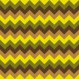 Άνευ ραφής διανυσματικός ζωηρόχρωμος κιτρινοπράσινος μπεζ καφετής γεωμετρικού σχεδίου βελών σχεδίων σιριτιών Στοκ Εικόνες