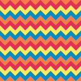 Άνευ ραφής διανυσματικό βελών σχεδίων σιριτιών γεωμετρικού σχεδίου ζωηρόχρωμο μπλε ουρανού κοραλλιών ρόδινο κόκκινο κίτρινο Στοκ Εικόνες