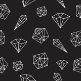 Άνευ ραφής διανυσματικό κρύσταλλο σχεδίων γεωμετρικό Στοκ Φωτογραφίες