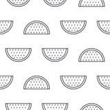 Άνευ ραφής διανυσματικό σχέδιο εικονιδίων γραμμών καρπουζιών Στοκ φωτογραφία με δικαίωμα ελεύθερης χρήσης