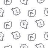 Άνευ ραφής διανυσματικό σχέδιο εικονιδίων γραμμών μπριζόλας κρέατος Στοκ φωτογραφία με δικαίωμα ελεύθερης χρήσης