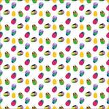 Άνευ ραφής διανυσματικό σχέδιο με τα αυγά Πάσχας Στοκ εικόνα με δικαίωμα ελεύθερης χρήσης
