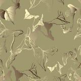 Άνευ ραφής διανυσματικό σχέδιο με τα εξωτικά φύλλα Απεικόνιση αποθεμάτων