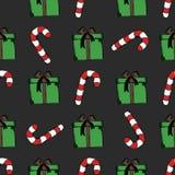 Άνευ ραφής διανυσματικό σχέδιο με τα κιβώτια δώρων Διανυσματική απεικόνιση