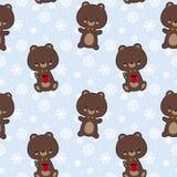 Άνευ ραφής διανυσματικό σχέδιο με τις χαριτωμένες αρκούδες Στοκ εικόνες με δικαίωμα ελεύθερης χρήσης