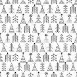 Άνευ ραφής διανυσματικό σχέδιο με fir-trees ελεύθερη απεικόνιση δικαιώματος