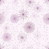 Άνευ ραφής διανυσματικό σχέδιο με snowflakes Στοκ φωτογραφίες με δικαίωμα ελεύθερης χρήσης