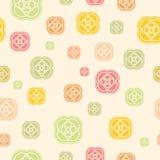 Άνευ ραφής διανυσματικό σχέδιο στα χρώματα κρητιδογραφιών Στοκ Εικόνα