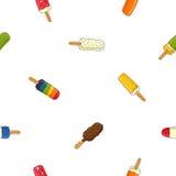 Άνευ ραφής διανυσματικό σχέδιο στο διαφορετικό popsicle Στοκ φωτογραφία με δικαίωμα ελεύθερης χρήσης
