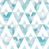 Άνευ ραφής διανυσματικό σχέδιο τριγώνων ουρανού Watercolor Στοκ φωτογραφία με δικαίωμα ελεύθερης χρήσης