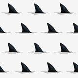 Άνευ ραφής διανυσματικό σχέδιο των πτερυγίων καρχαριών Στοκ φωτογραφίες με δικαίωμα ελεύθερης χρήσης
