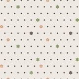Άνευ ραφής διανυσματικό σχέδιο των σημείων και των λουλουδιών Στοκ φωτογραφία με δικαίωμα ελεύθερης χρήσης